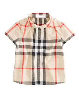 Burberry Button-Down Shirt, 12M-3Y