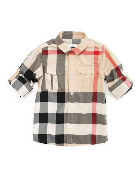 Mini-Slough Giant Exploded Check Tee