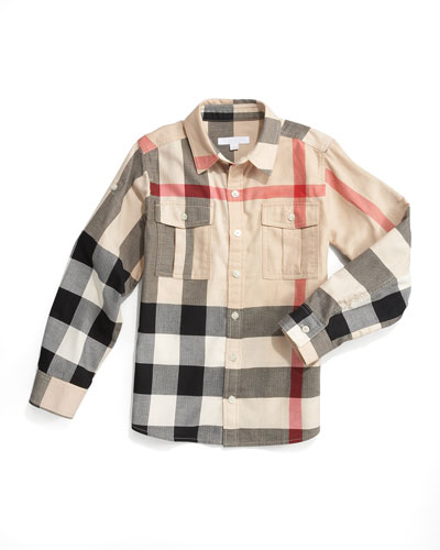 Burberry Exploded Check Button Front Shirt