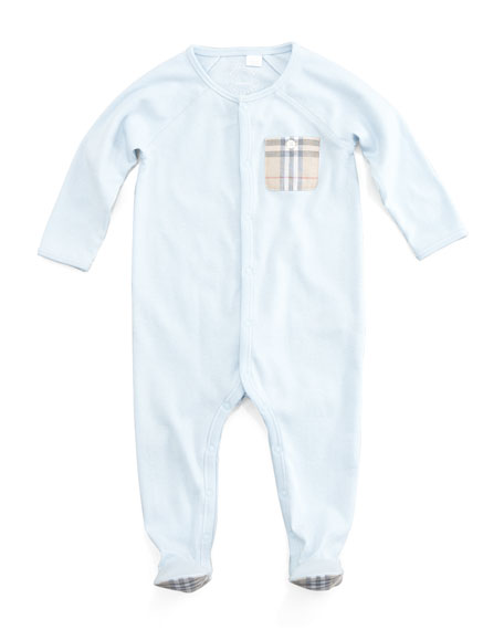 Elvis Jersey Check-Pocket Sleepsuit