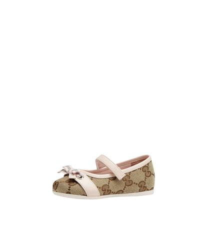 Marilyn GG Canvas Mary Jane Ballerina, Toddler