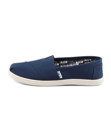 Classic Canvas Slip-On, Navy, Youth