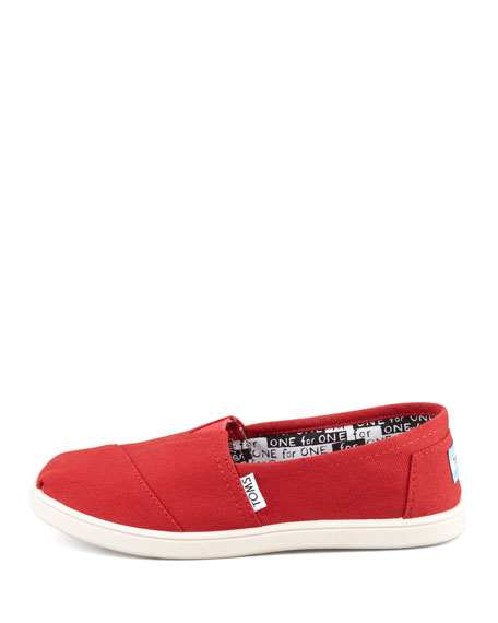 Classic Canvas Slip-On, Red, Youth