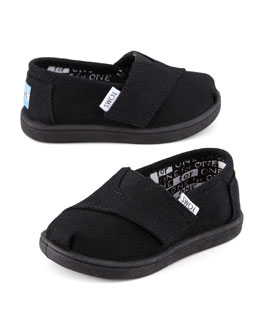 TOMS Classic Canvas Slip-On, Black, Tiny