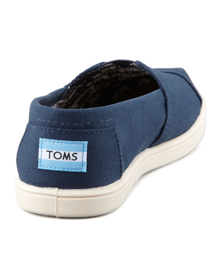 Personalized Classic Canvas Slip-On, Navy, Youth