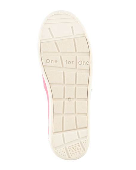 Personalized Classic Canvas Slip-On, Pink, Youth