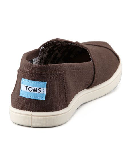 Personalized Classic Canvas Slip-On, Chocolate, Youth