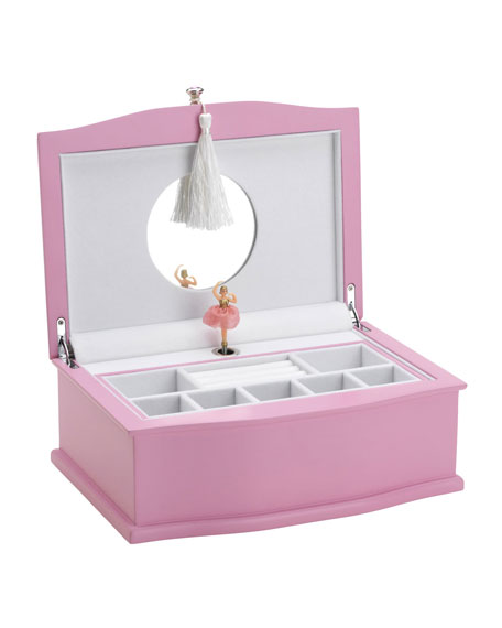 Ballerina Musical Jewelry Box, Pink/White