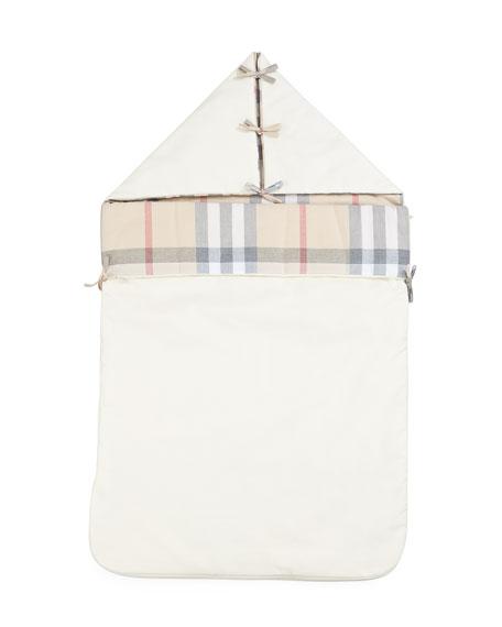 Burberry Mason Check Canvas Amp Leather Diaper Tote Bag