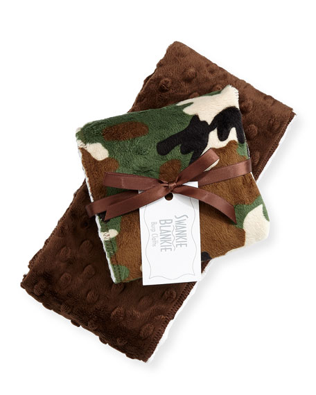 Camouflage Burp Cloth Set, Brown