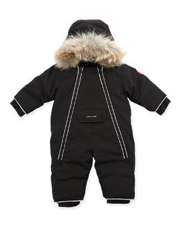 Canada Goose Lamb Snowsuit with Fur Trim, Black, 0-24 Months
