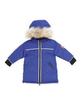Canada Goose Reese Parka with Fur-Trim, Royal, 0-24 Months