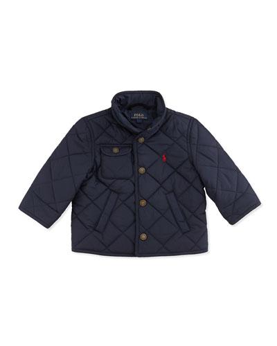 Ralph Lauren Childrenswear Richmond Quilted Jacket, Aviator Navy, 9-24 Months