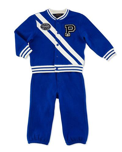 Ralph Lauren Childrenswear Fleece Banner Jacket Two-Piece Set, Sapphire Star,