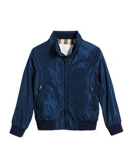Lightweight Zip-Front Jacket, Teal, Size 4-14