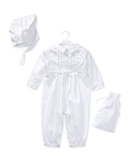 Cotton Special Occasion Set, White, Size 3-9 Months