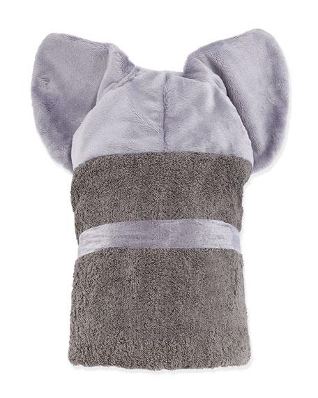 Hooded Elephant Towel, Slate