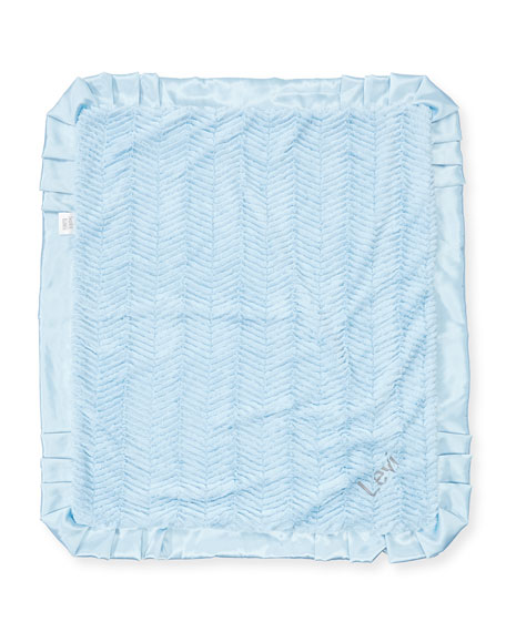 Swankie Blankie Ziggy Plush Receiving Blanket, Blue
