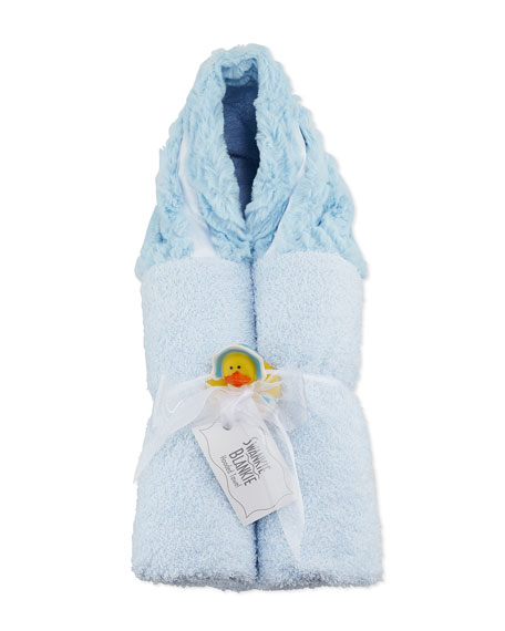 Swankie Blankie Ziggy Hooded Towel, Blue