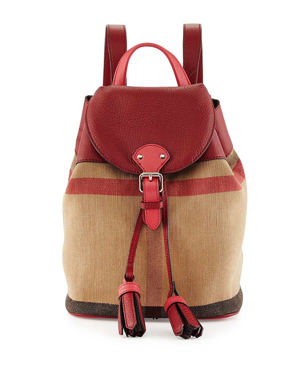 d41bebef3d3f Burberry Mini Check Canvas Backpack