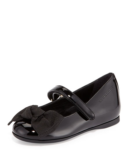 Burberry Trixie Patent Leather Mary Jane Flat, Black,