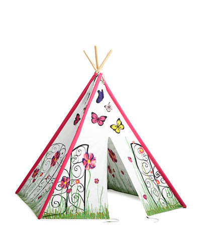 Girls' Milly Tea Party Play Tent, Pink/White