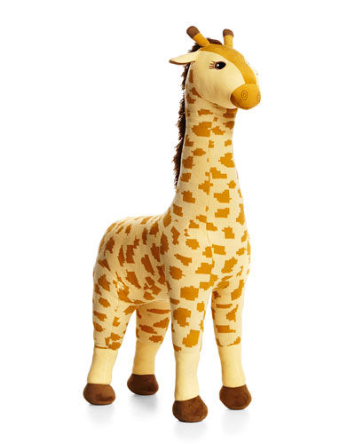 Knit Giraffe Stuffed Animal, Yellow