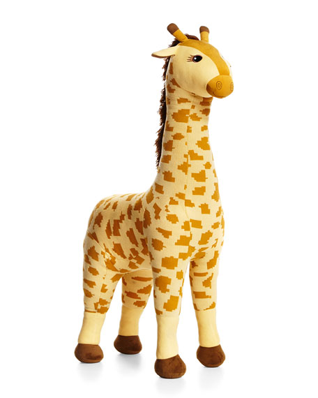 PawPrints Knit Giraffe Stuffed Animal, Yellow