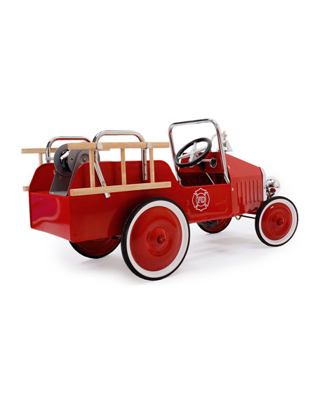 Metal Fire Truck Pedal Car, Red