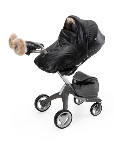 Fur-Trim Winter Kit, Black