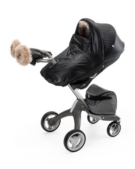 Stokke Fur-Trim Winter Kit, Black