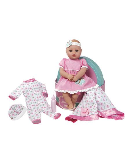 Adora Hat Box Baby Doll, Pink
