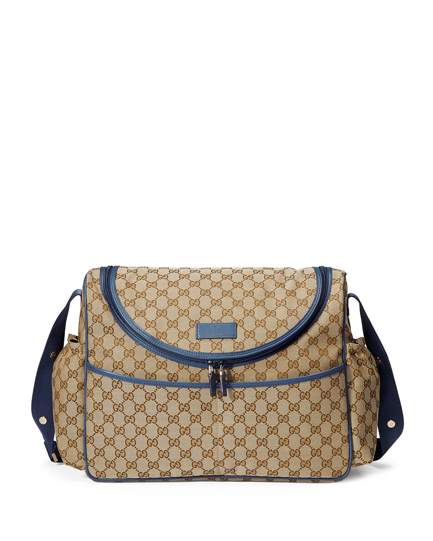 094056180 Gucci GG MESSENGER DIAPER BAG | Neiman Marcus
