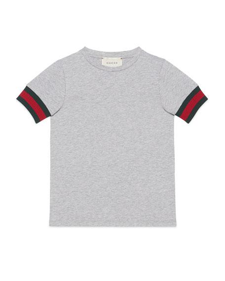 Web-Trim Cotton Jersey Tee, Size 4-12