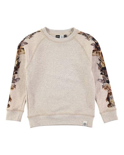 Mio Melange Totem Sweatshirt, Tan, Size 4-12