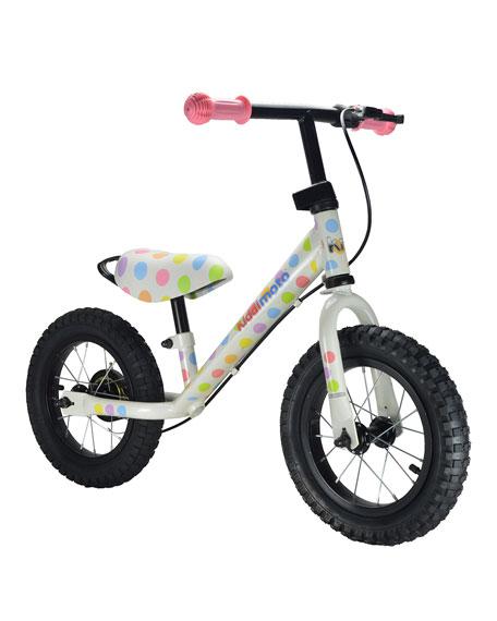Kiddimoto Super Junior Max Pastel Dotty Balance Bike