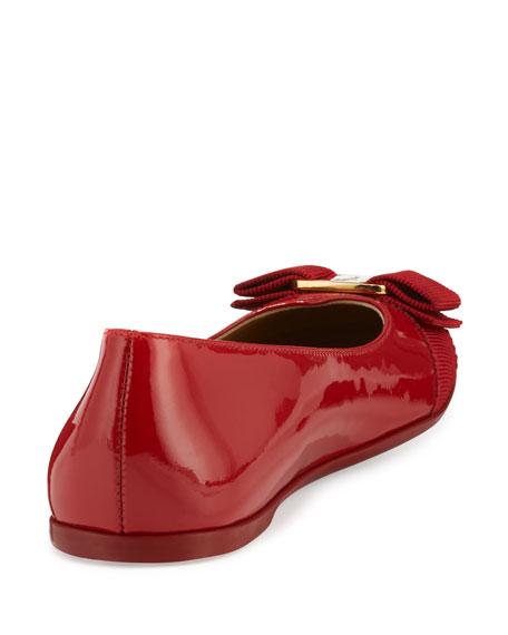 Varina Mini Patent Leather Ballet Flat, 10T-2Y