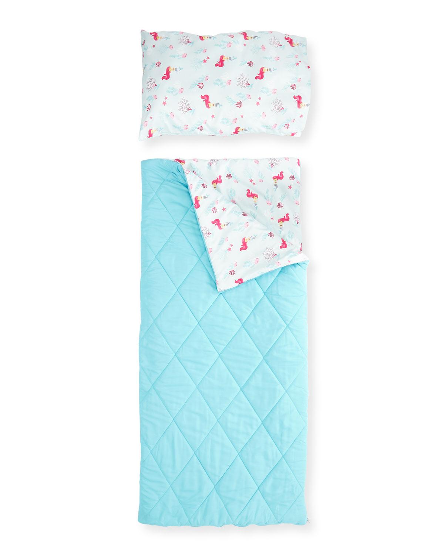 S Sleeping Bag Set Aqua Fuchsia