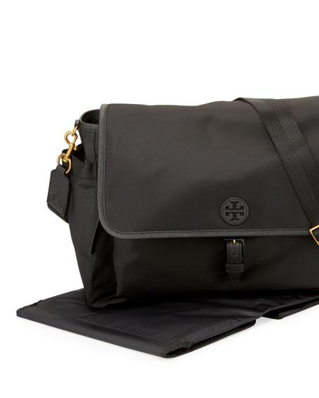 Scout Messenger Diaper Bag, Black