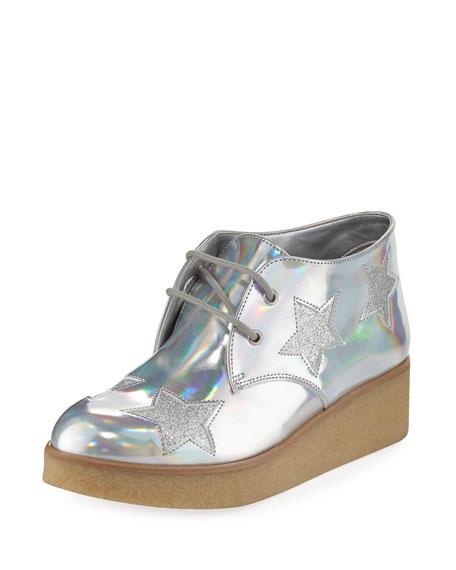 Stella McCartney Wendy Star-Patched Platform Sneaker, Sizes