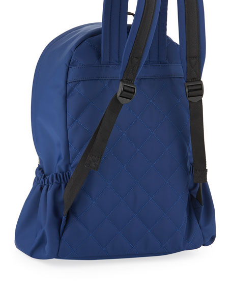 girls' back to school nylon backpack, navy