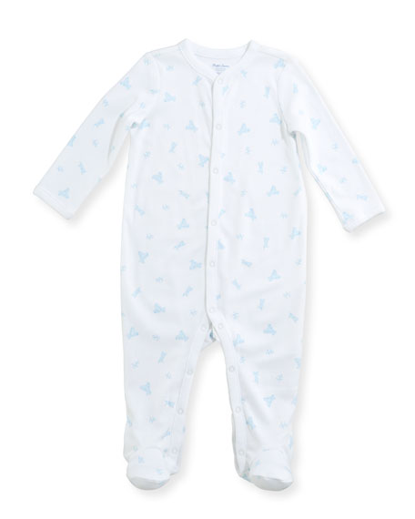 Teddy Bear Footie Pajamas, Size Newborn-9 Months