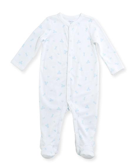 Teddy Bear Footie Pajamas, Size Newborn-9 Months