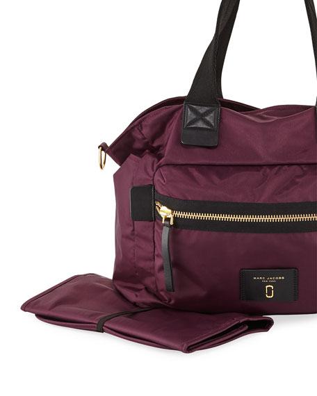 Biker Leather-Trim Nylon Baby Bag