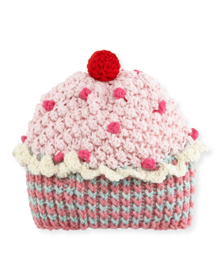 Kids' Knit Cupcake Beanie Hat