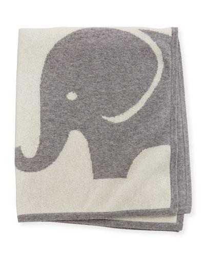Elephant Cashmere Baby Blanket