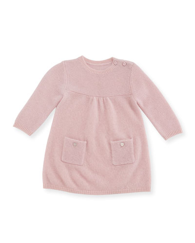 Links Cashmere Knit Dress, Size 3-18 Months