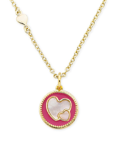 Girls' Heart Pendant Necklace  Hot Pink