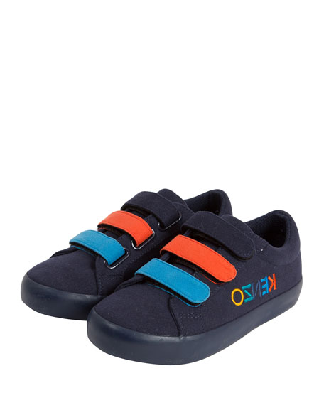 Colorblock Logo-Sides Sneaker, Kids