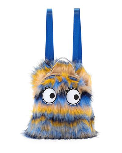 Kids' Faux-Fur Monster Backpack